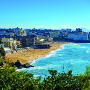 Biarritz Grande Plage (beach) in summer, France