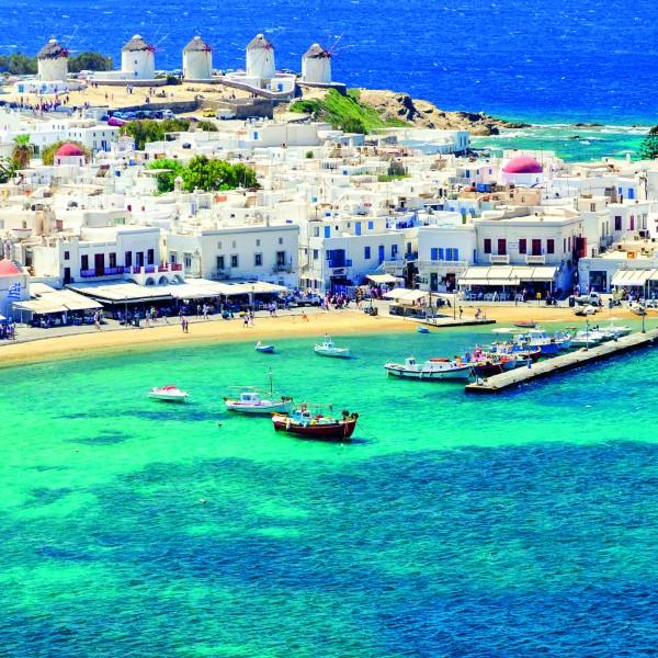 Mykonos island in Greece Cyclades
