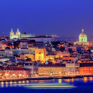 Lisboa visto do Cristo Rei Almada