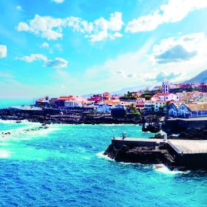 Nature scenic seascape in Canary Island.Travel adventures landscape in Garachico village